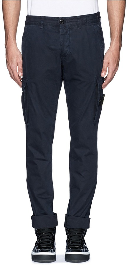 famous designer brand top-rated discount hot new products $330, Stone Island Slim Fit Cotton Cargo Pants