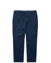 Brunello Cucinelli Tapered Cotton Blend Trousers