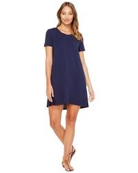 Mod-o-doc Cotton Modal Spandex Jersey T Shirt Dress With Back Contrast Dress