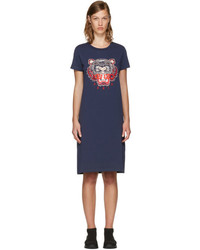 Navy limited edition tiger t shirt dress medium 3699448