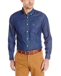 Button down chambray shirt medium 183127