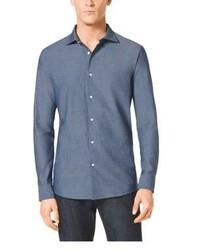 Michl kors slim fit chambray shirt medium 183123