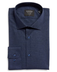 Nordstrom Trim Fit Non Iron Chambray Dress Shirt