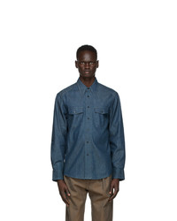 Lemaire Blue Western Shirt