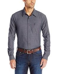 Cinch Modern Fit Long Sleeve Denim Chambray Button Down Shirt