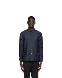 Ps By Paul Smith Navy Chambray Shirt
