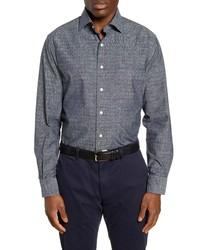 Peter Millar Regular Fit Arrowhead Chambray Button Up Shirt