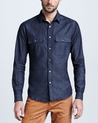 Soft wash chambray shirt medium 11767