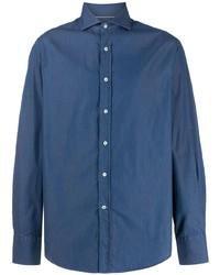 Brunello Cucinelli Spread Collar Chambray Shirt