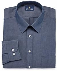 Stafford Stafford Travel Super Performance Big And Tall Long Sleeve Broadcloth Pattern Dress Shirt
