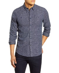 Barbour Tailored Fit Solid Button Up Shirt