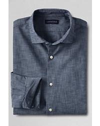 Classic Traditional Fit Chambray Dress Shirt Indigo17ht