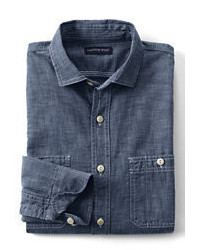 Classic Traditional Fit Chambray Shirt Falling Petals26w