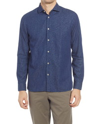 Ted Baker London Yaki Denim Long Sleeve Button Up Shirt