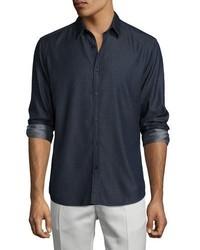 Zack chambray sport shirt indigo medium 962357