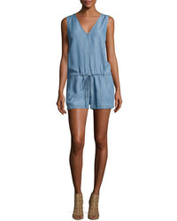 Rails Parker Sleeveless Chambray Romper
