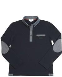 HUGO BOSS Cotton Piqu Chambray Polo Shirt