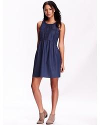 Sleeveless chambray dresses medium 347407