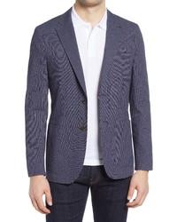 Ted Baker London Cactus Slim Fit Check Stretch Cotton Blend Sport Coat