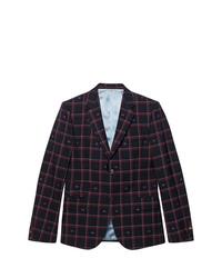 Gucci Cambridge Gg Checked Blazer