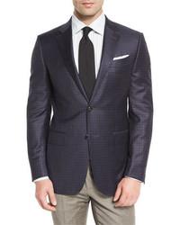 Check two button sport coat navycamel medium 713362