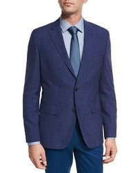 Faded check two button sport coat bright blue medium 1149275