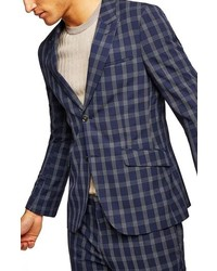 Topman Muscle Fit Check Suit Jacket