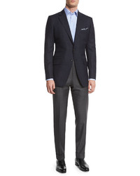 Tom Ford Oconnor Base Mini Check Sport Jacket Navy