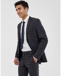 Jack & Jones Premium Slim Suit Jacket In Heritage Check
