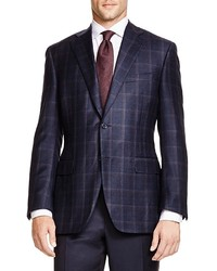 Canali Siena Soft Double Windowpane Classic Fit Sport Coat 100% Bloomingdales