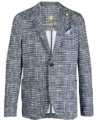 Manuel Ritz Single Breasted Checked Blazer