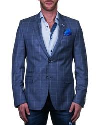 Maceoo Socrate Regular Fit Plaid Sport Coat