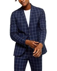 Topman Wind Skinny Fit Suit Jacket