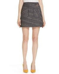 Ted Baker London Shaula Colour By Numbers Boucle Miniskirt