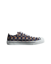 Burberry Tiled Archive Print Cotton Sneakers