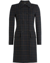 Theory Checked Coat With Virgin Wool