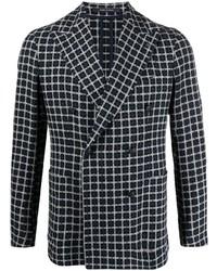 Tagliatore Check Pattern Double Breasted Blazer