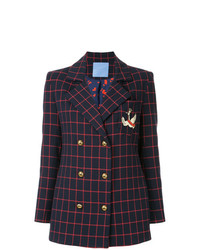 Macgraw Checked Double Breasted Blazer