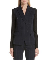 Stella McCartney Pajama Sleeve Check Wool Jacket
