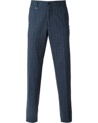Navy Check Dress Pants