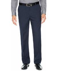 JF J.Ferrar Checked Stretch Slim Fit Suit Pants Slim