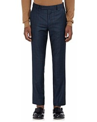 Paul Smith Checked Wool Flat Front Trousers