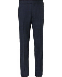Kingsman arthurs navy checked wool suit trousers medium 6984535