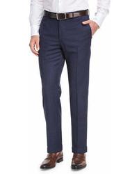Incotex Micro Check Wool Straight Leg Trousers