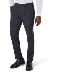 Muscle fit check suit trousers medium 3772626
