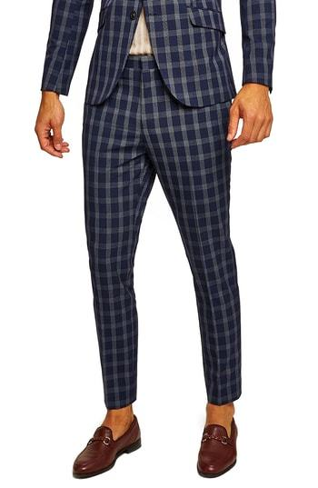 a6080be06 Muscle Fit Check Suit Trousers