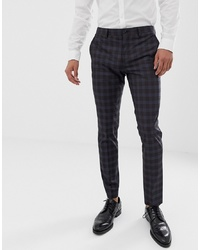 Jack & Jones Premium Slim Suit Trousers In Heritage Check