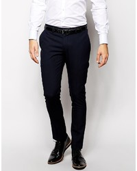 Selected Homme Lux Tonal Check Suit Pants In Skinny Fit