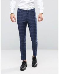 Wedding skinny suit pants in check medium 3641987