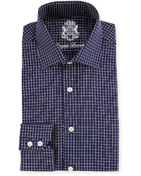 Navy Check Dress Shirt